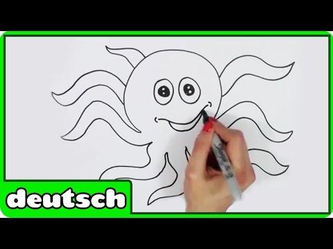 Wie man eine Krake zu ziehen | Learn To Draw Oswald The Octopus | Einfache Zeichnung Tutorials