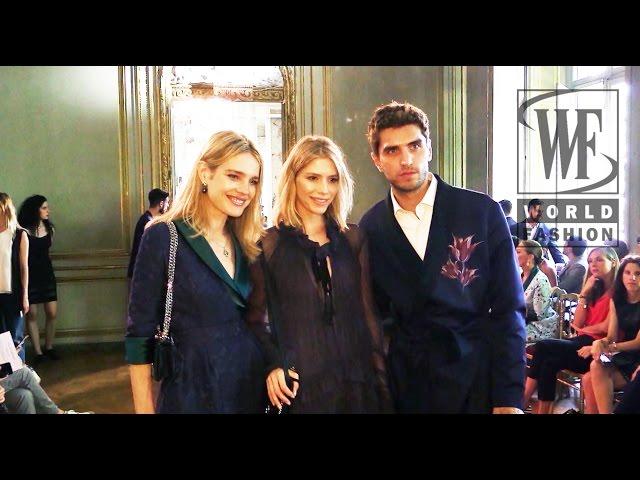 Front Row Ulyana Sergeenko Couture Fall-Winter 15-16