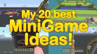 Minecraft - How to make my 20 BEST Minigames! - My 20 Favorite Minigame ideas