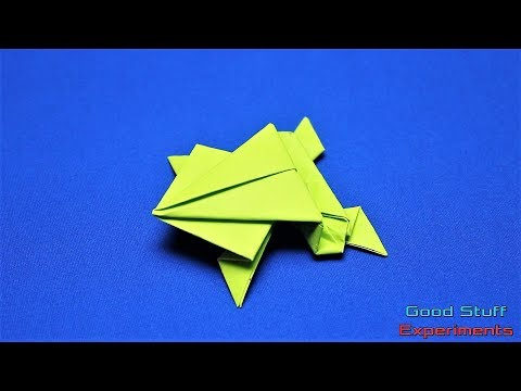 Origami Frog - How To Make a Paper Jumping Frog