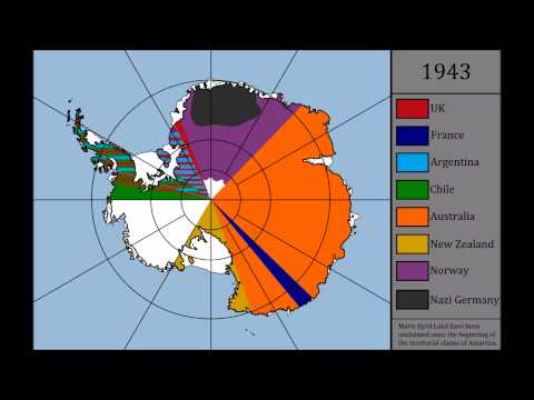 Territorial claims of Antarctica (1900-2015)
