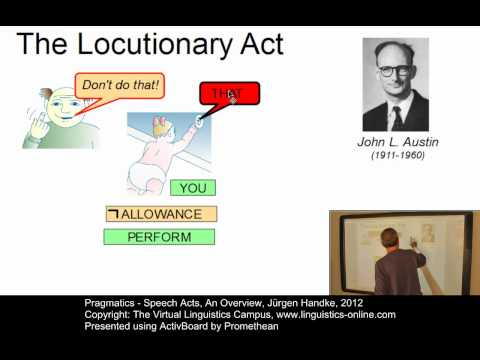 SEM141 - Speech Acts - An Overview
