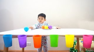 Learn colors with cups and balls Game - Xavi ABCKids
