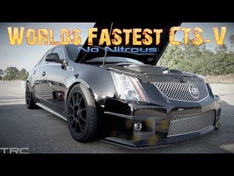 Worlds Fastest Cadillac CTS-V Battles Godzilla GTR! - YouTube