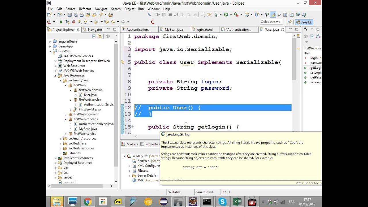 Java Ee Bassem Hmidi Seance 4 Bean Validation Datatable Youtube