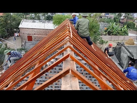 How to Building Frame a Roof - Amazing Smart Techniques - Bu