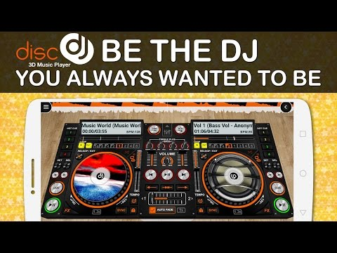 DiscDj 3D Music Player for Android - Be the Dj you always wanted to be