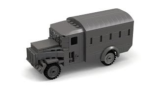 Lego WWII German Opel Blitz Truck Instructions