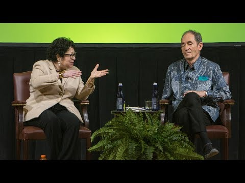 Justice Sonia Sotomayor and Justice Albie Sachs in conversation for the Guarini Institute launch