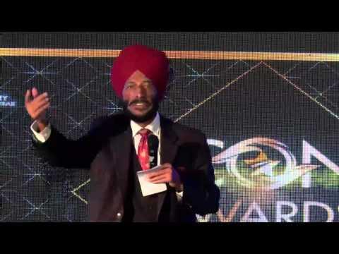 Milkha Singh Speech - Icon of the Year Awards Ceremony 2015
