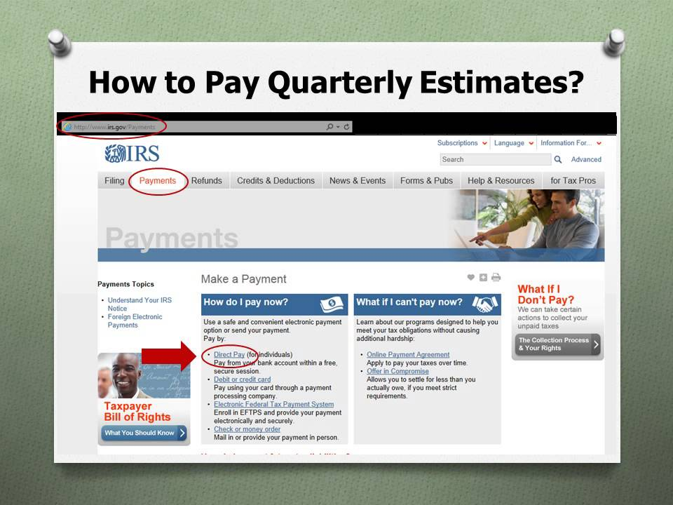 How To Pay Quarterly Estimates Online Youtube