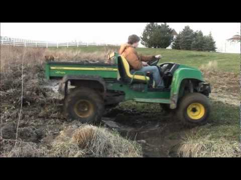 john deere gator hpx mudding and getting stuck youtube. Black Bedroom Furniture Sets. Home Design Ideas