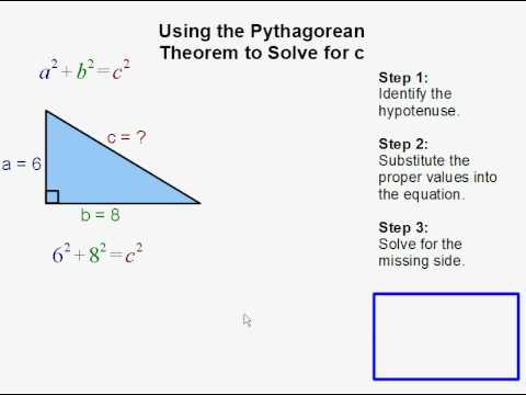 Solving For C Using The Pythagorean Theorem  Youtube
