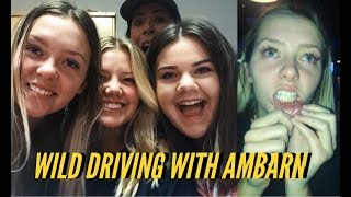 CRAZY DRIVING & CANKER SORES// vlog
