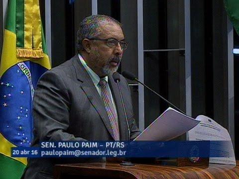 Paulo Paim Registra Carta Contra O Impeachment Da Associação Latino-Americana De Juízes Do Trabalho