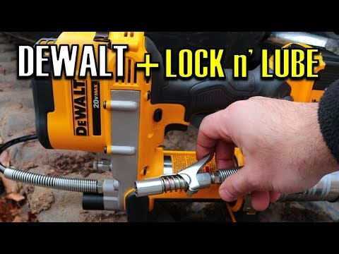 Dewalt DCGG571M1 20v MAX Electric Grease Gun | Gurtech Lock n Lube Coupler UPGRADE