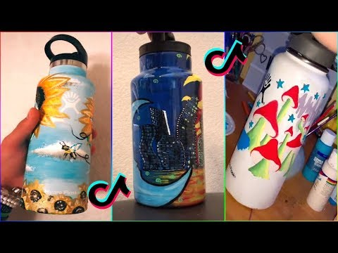 Best Tik Tok Painting On HYDRO FLASKS Compilation 2019 #3