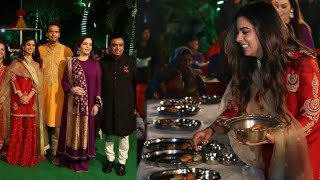 Mukesh Ambani daughter looks so charming in her wedding preprations with family