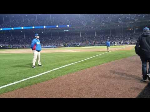 Chicago Cubs World Series Banner Raising