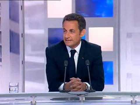 """Les images de Sarkozy en """"off"""" avant son interview sur F 3"""
