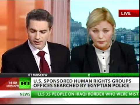 Egypt: Police raid US NGOs to find out who has been funding the revolution...