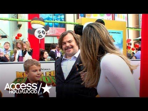 Jack Black & His Kids Celebrate Premiere Of 'Kung Fu Panda 3' | Access Hollywood
