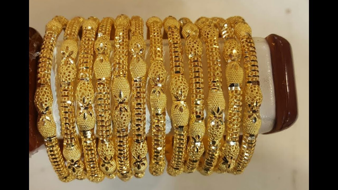 Latest gold bangles designs with weight and price ...