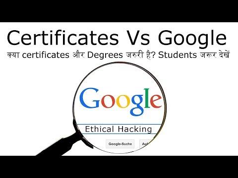 Kya ethical hacking ke liye certification aur degrees jaruri hai? | learning from google