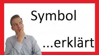 Das Symbol | Ein Stilmittel erklärt IX