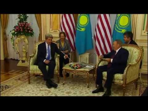 Secretary Kerry in Central Asia - Astana moments - meetings w Nazarbayev, Idrissov