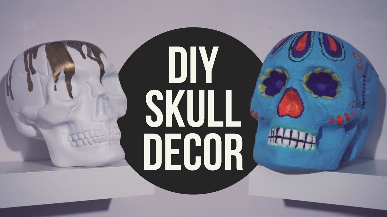 diy halloween skull decor youtube - Halloween Skulls Pictures