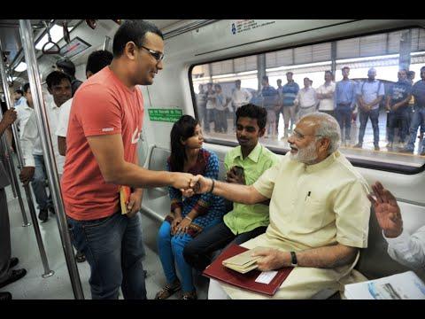 PM Modi inaugurates Badarpur-Mujesar Metro Line in Faridabad, Haryana