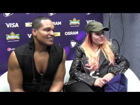 ESCKAZ in Kyiv: Valentina Monetta & Jimmie Wilson (San Marino) interview