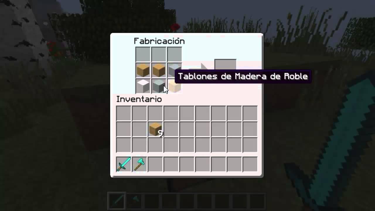 Como hacer una cama en minecraft 1 7 9 2014 youtube for Cama minecraft