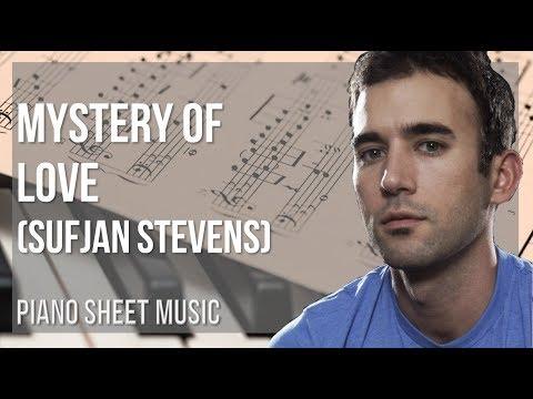 EASY Piano Sheet Music: How to play Mystery of Love by Sufjan Stevens