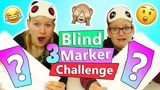 Three Marker BLIND Topmodel Challenge   Eva vs. Kathi   Total verrückte neue Challenge Idee