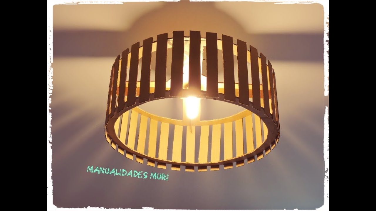 Resultado de imagen para Lámparas hechas con palitos de paleta