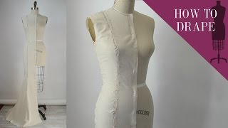 How To Drape A Mermaid Evening Gown