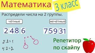 Репетитор по скайпу  Математика 3 класс  Четные и нечетные числа