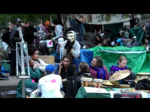 Princess Kim And Staniel Visit Occupy Wall Street