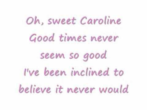 Sweet Caroline Lyrics Glee Version - YouTube