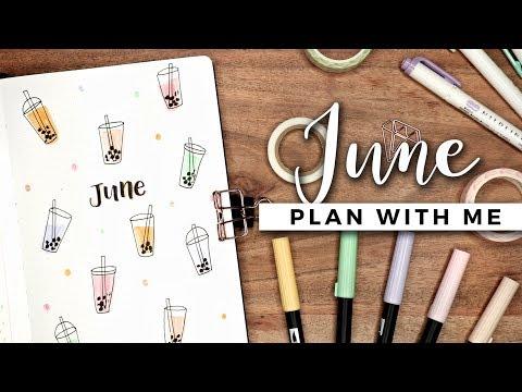 PLAN WITH ME   June 2019 Bullet Journal Setup