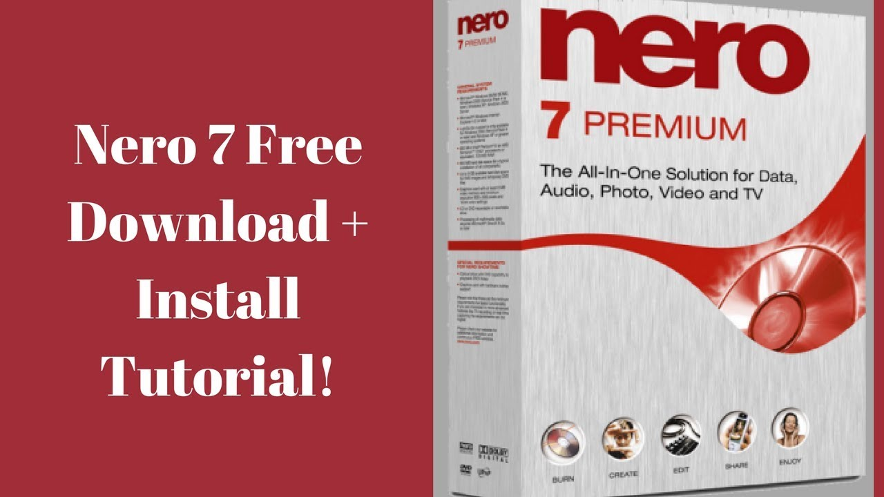 free nero installer for windows 7