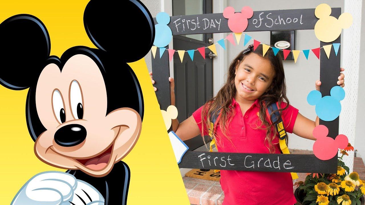 Mickey First Day Of School Frame Disney Diy Disney Family Youtube