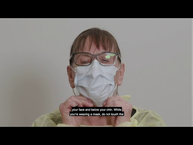How To Wear A Mask Explained By Chief Nurse And Midwifery Officer Alison Mcmillan Youtube