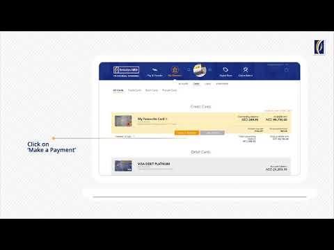 How to make Credit Card payments via Emirates NBD دفع مستحقات بطاقات الائتمان عبر خدماتنا المصرفية