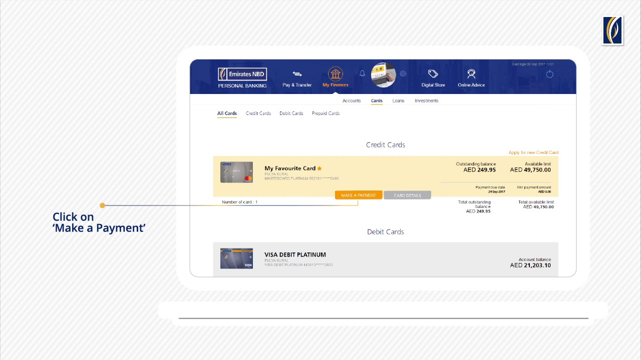 How To Make Credit Card Payments Via Emirates NBD