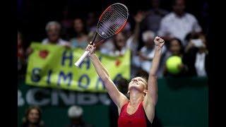 2017 WTA Finals Round Robin | Simona Halep vs Caroline Garcia | WTA Highlights