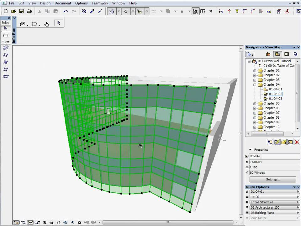 how to use curtain wall tool