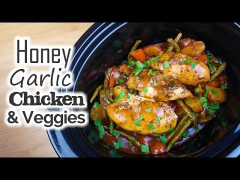 Slow Cooker Honey Garlic Chicken & Veggies What's For Din'? Courtney Budzyn Recipe 65